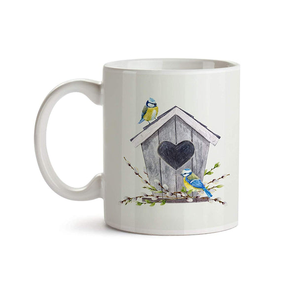 Titmouse Birdhouse 11oz Coffee Mug - Tea Mug