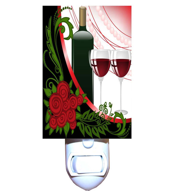 Wine and Roses Night Light