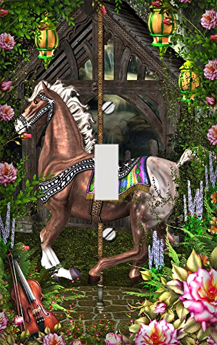 Garden Carousel Switch Plate Cover