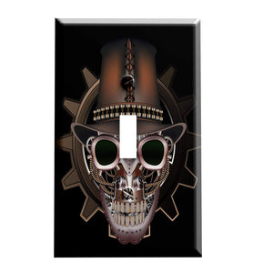 Steampunk Skull in Top Hat Switch Plate Cover