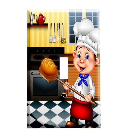 The Bread Chef Switch Plate Cover