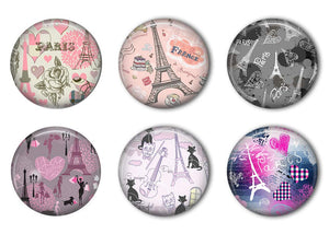 Paris Refrigerator Magnet Set