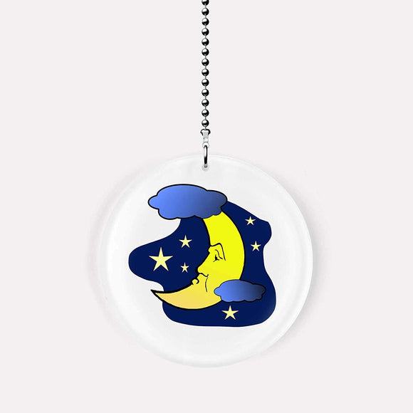 Clouds Moon and Stars Fan Pull