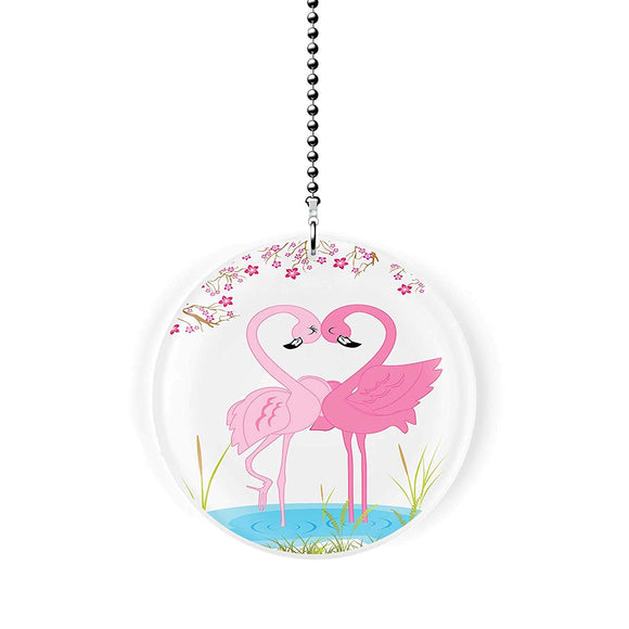 Flamingo Love Fan Pull