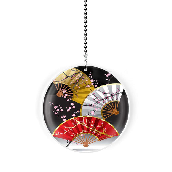 Asian Cherry Blossom Fans Fan Pull