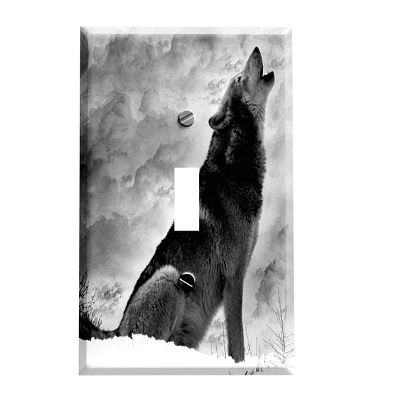 Wolf Storm Howler Switch Plate Cover