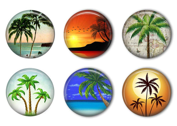 Palm Tree Refrigerator Magnet Set