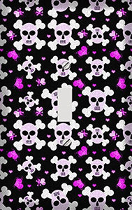 Cross Bone Skulls and Hearts Switch Plate Cover