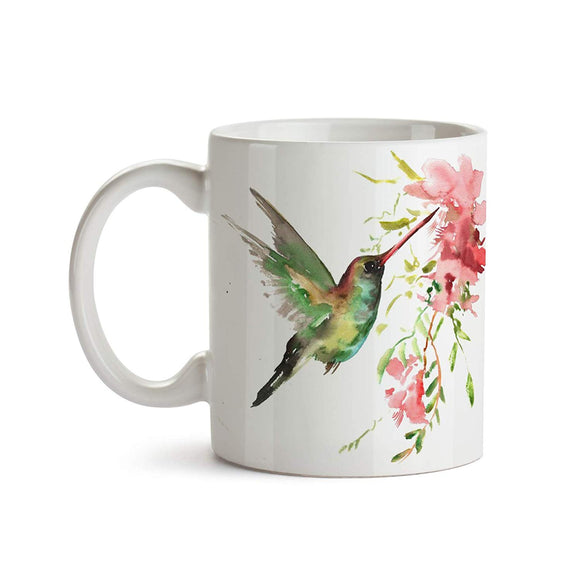 Hummingbird Splash 11oz Coffee Mug - Tea Mug