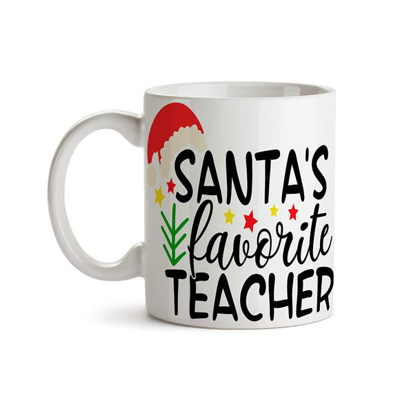 Santa's Favorite Teacher 11oz Coffee Mug - Tea Mug
