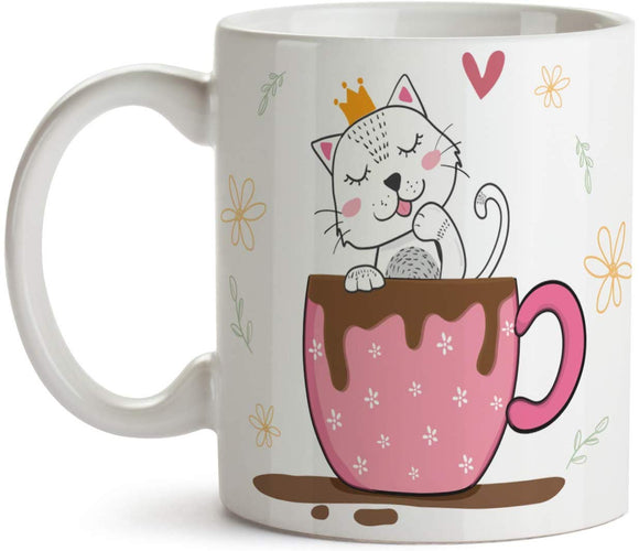 Princess Coffee Cat 11oz Coffee Mug - Tea Mug