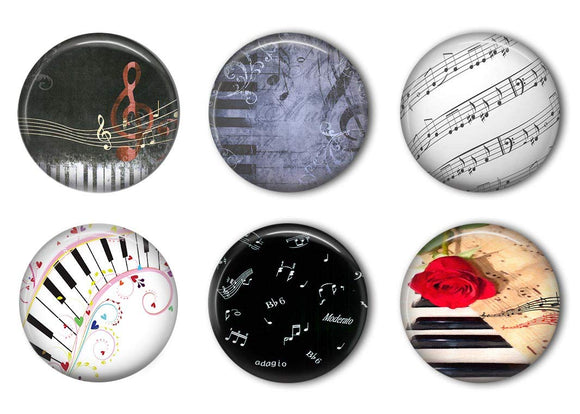 Music Note Refrigerator Magnet Set