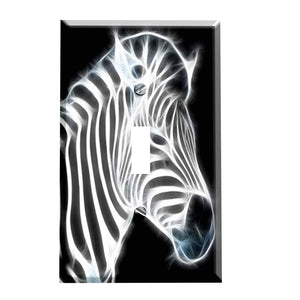 Zebra Illumination Switch Plate Cover
