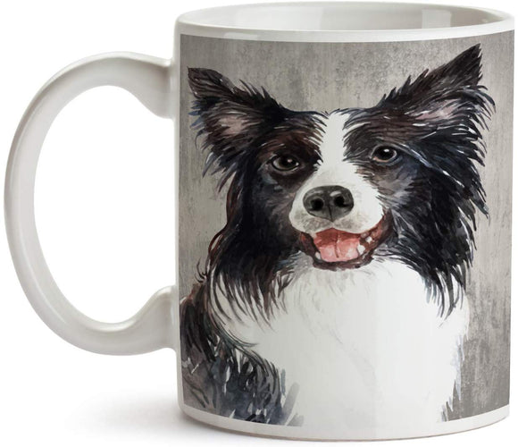 Border Collie Portrait 11oz Coffee Mug - Tea Mug