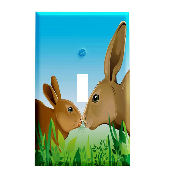 Bunny Kisses Switch Plate Cover