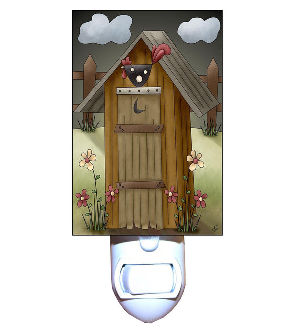 Rooster Outhouse Night Light