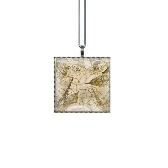 Gotham Decor Paris Fancy Square Pendant on Chain