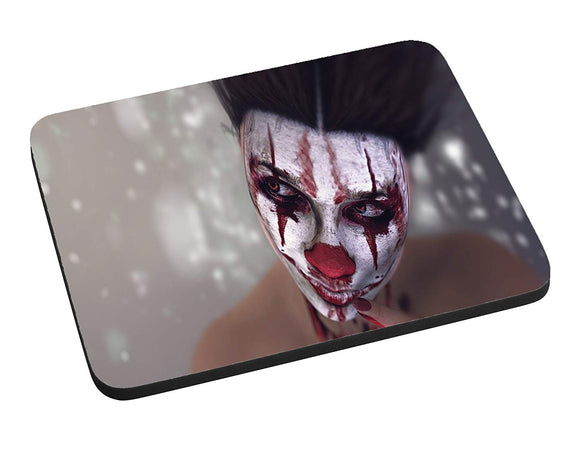 Cracked Clown Mouse Pad