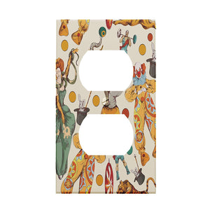 Circus Collage Outlet Cover