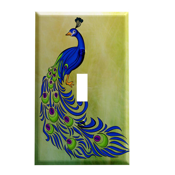 Elegant Peacock Switch Plate Cover