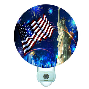American Patriot Liberty Decorative Round Night Light