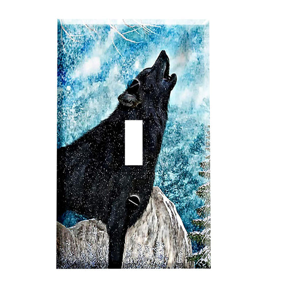 Winters Wolf Switch Plate Cover
