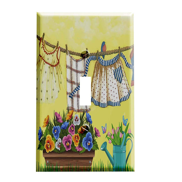 Hanging Out the Laundry Switch Plate Cover