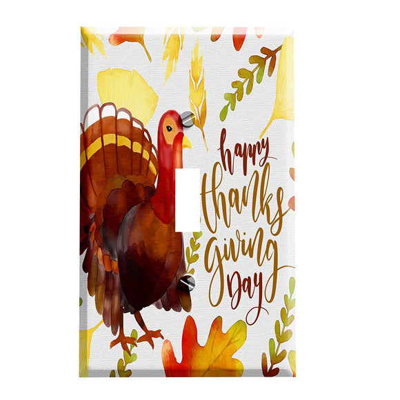 Happy Thanksgiving Turkey Day Switch Plate Cover