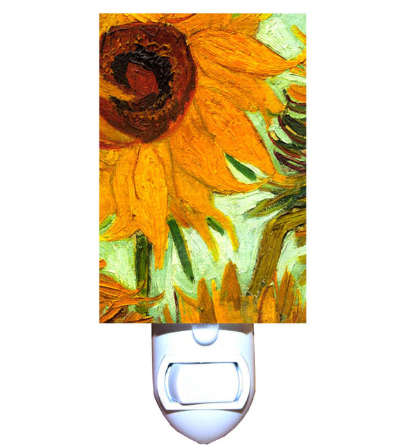 Sunflowers Detail by Van Gogh Night Light
