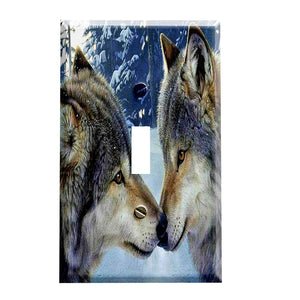 Snow Wolf Kiss Switch Plate Cover