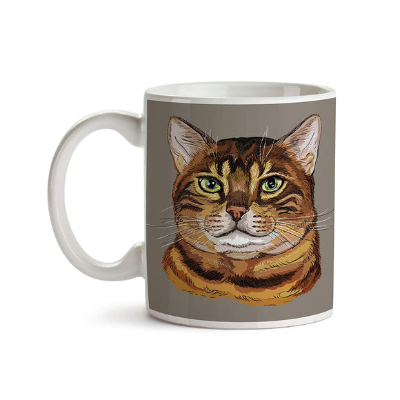 Bengal Cat Portrait 11oz Coffee Mug - Tea Mug