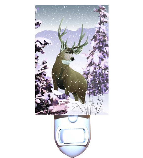 Snowy Reindeer Night Light