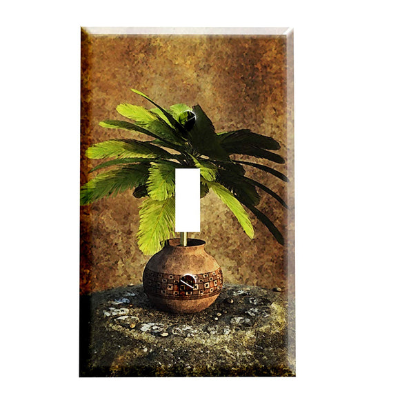 Potted Palm Tree Switch Plate Cover