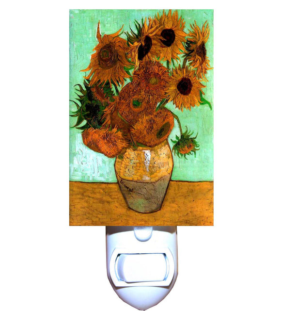 Twelve Sunflowers by Van Gogh Night Light
