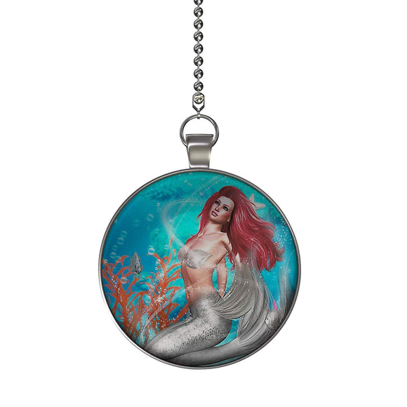 Magic Mermaid Ceiling Fan/Light Pull Pendant with Chain