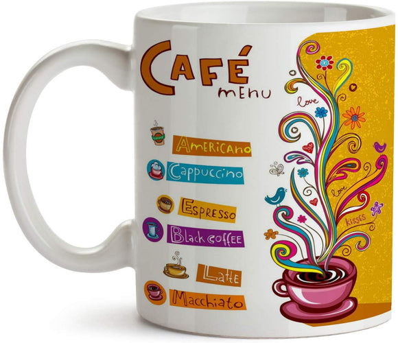 Coffee Menu 11oz Coffee Mug - Tea Mug