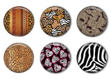 Safari Animal Prints Refrigerator Magnet Set