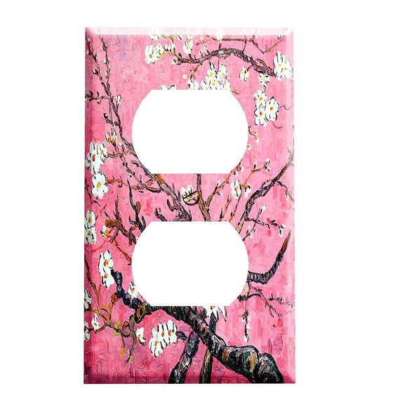Vincent Van Gogh Almond Blossoms Pink Outlet Cover