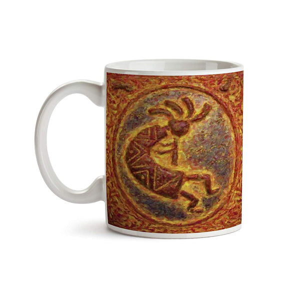 Abstract Kokopelli 11oz Coffee Mug - Tea Mug