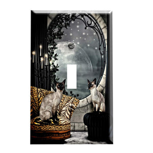 Siamese Cats Switch Plate Cover