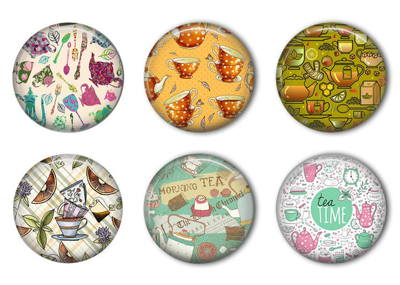 Tea Time Refrigerator Magnet Set