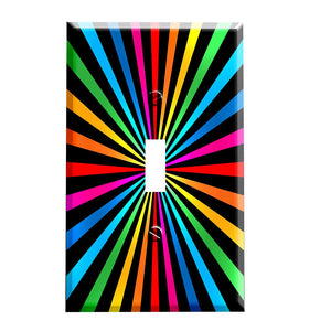 Rainbow Spiral Switch Plate Cover