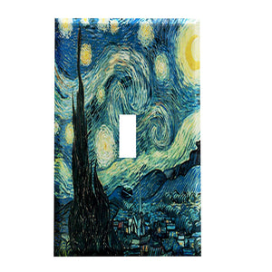 Vincent Van Gogh Artwork Starry Night Switch Plate Cover