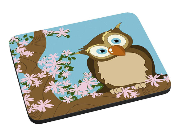 Cherry Tree Owl Mouse Pad