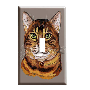 Bengal Cat Portrait Switch Plate Cover