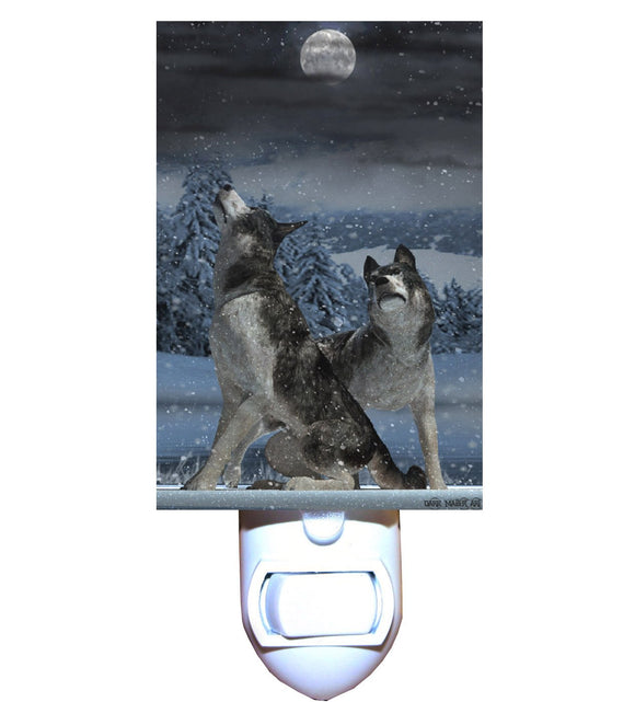 Wolf Moon Pair Night Light