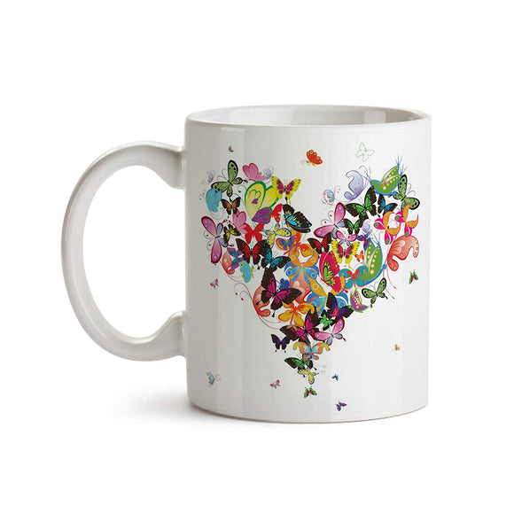 Butterfly Heart 11oz Coffee Mug - Tea Mug