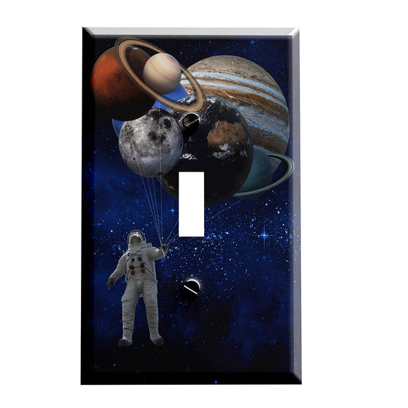 Space Balloons Switch Plate