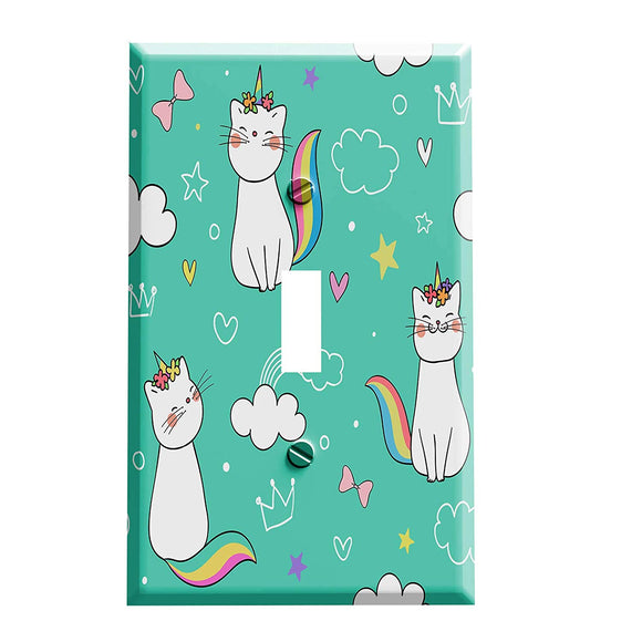 Caticorn Princess Switch Plate - Unicorn Themed Home Decor