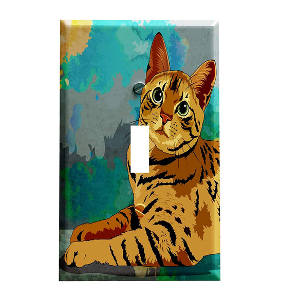 Bengal Cat Switch Plate Cover